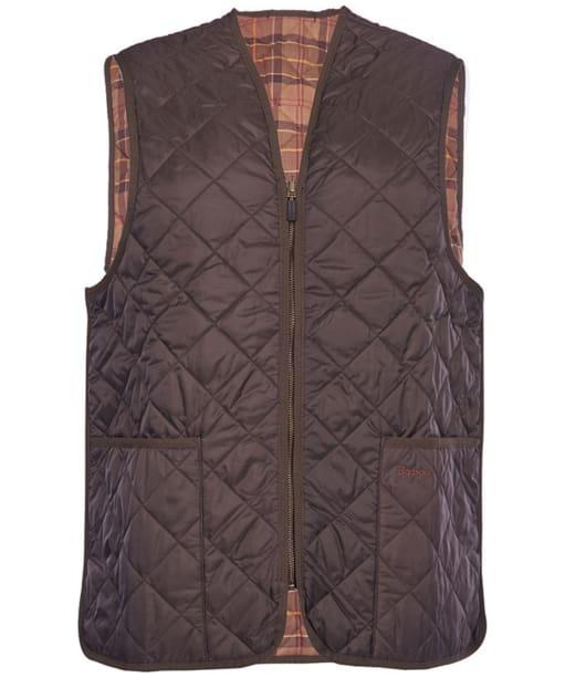 Barbour Mens Quilted Waistcoat / Zip-in Liner - Rustic   Muted Tartan