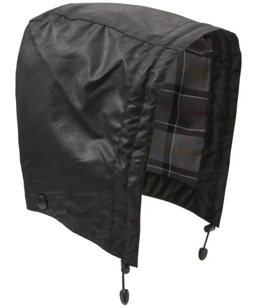 Barbour Waxed Cotton Hood - Black | Modern Tartan