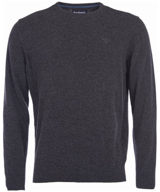 Mens Barbour Essential Lambswool Crew Neck Sweater - Charcoal