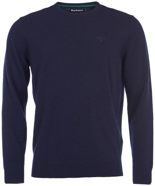 Mens Barbour Essential Lambswool Crew Neck Sweater - Navy