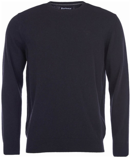 Mens Barbour Essential Lambswool Crew Neck Sweater - Black