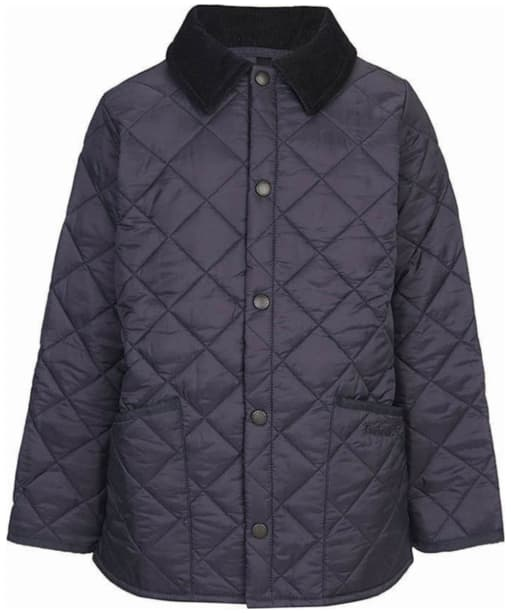 Boys Barbour Liddesdale Quilted Jacket - Navy