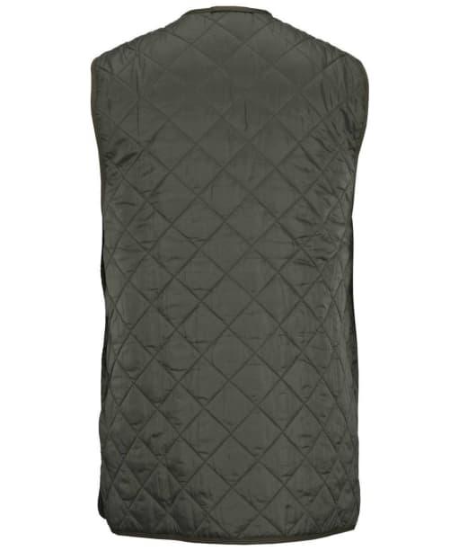Men's Barbour Quilted Waistcoat / Zip-in Liner - Olive