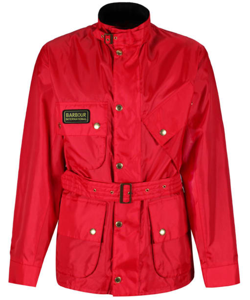 Mens Barbour International A7 Brass Jacket - Red