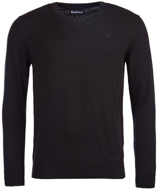 Men's Barbour Pima Cotton V-Neck Sweater - Black
