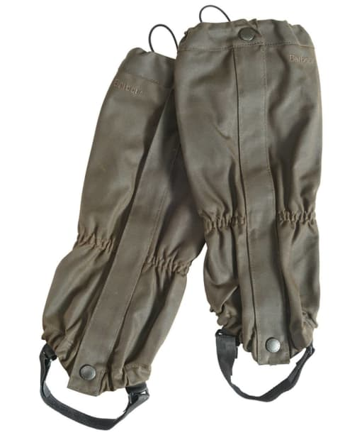 Barbour Waxed Cotton Gaiters - Olive