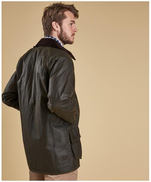 Men's Barbour Classic Beaufort Waxed Jacket - Olive