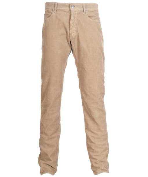 Mens Barbour Essential Skinny Cord Trousers - Stone
