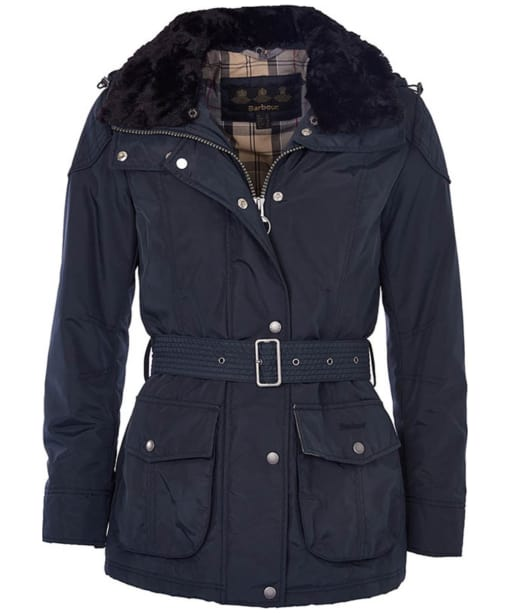 Womens Barbour Outlaw Waterproof Jacket - Navy