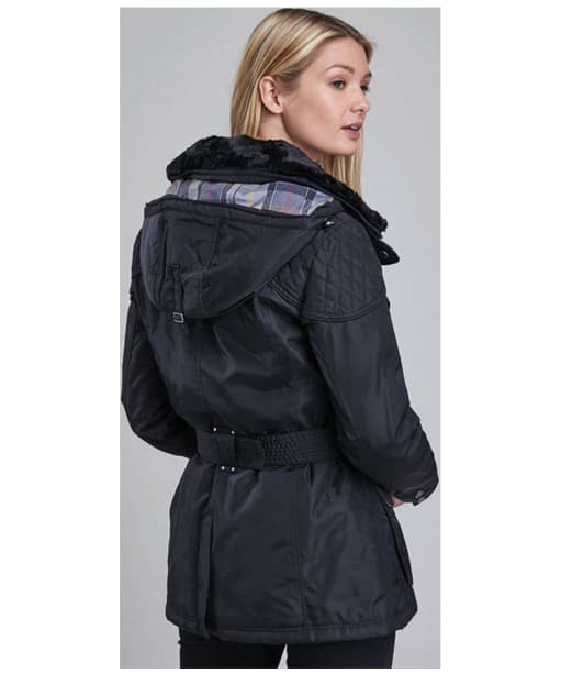 Womens Barbour Outlaw Waterproof Jacket - Black