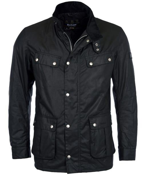 Men's Barbour International Duke Waxed Jacket - Black
