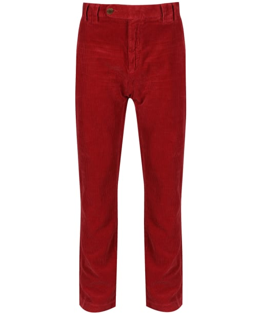 Mens Barbour Claremount Cord Trousers - Ruby