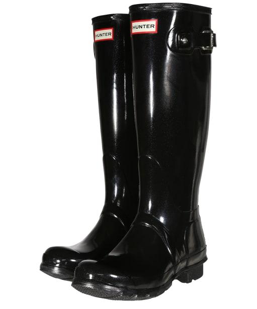 Women's Hunter Original Tall Gloss Wellington Boots - Black