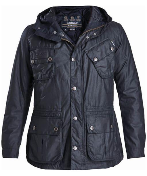 Men's Barbour Fog Waxed Parka Jacket - Black