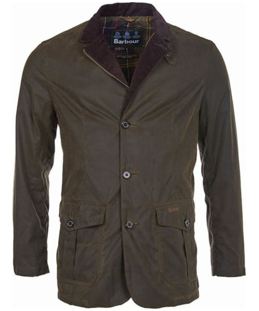 Barbour Lutz Waxed Jacket - Olive