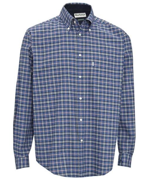 Mens Barbour Bisley Shirt - Blue