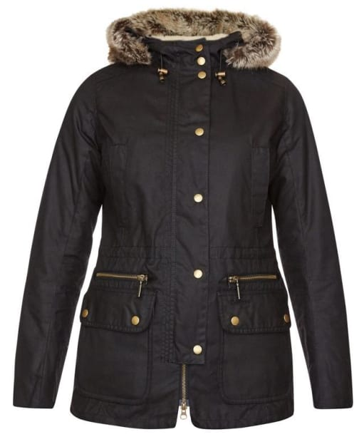 Womens Barbour Kelsall Waxed Jacket - Black