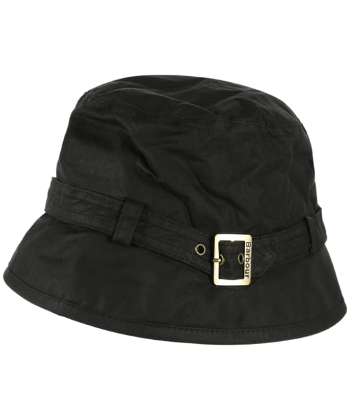 Womens Barbour Kelso Wax Belted Hat - Black