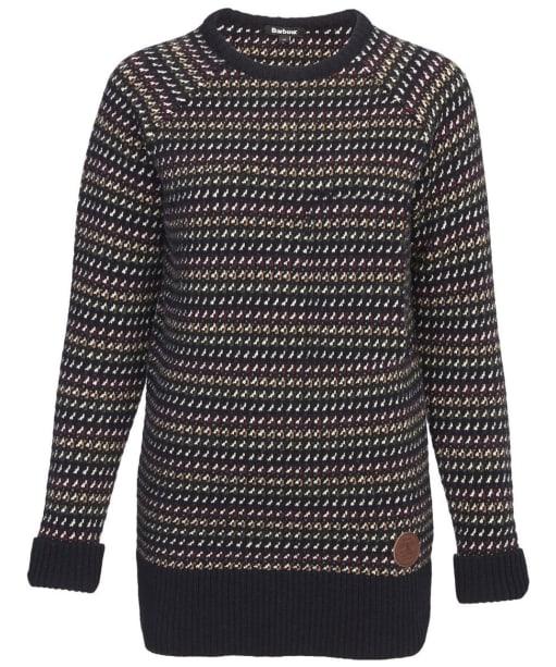 Women's Barbour Rowfoot Lambswool Sweater - Navy