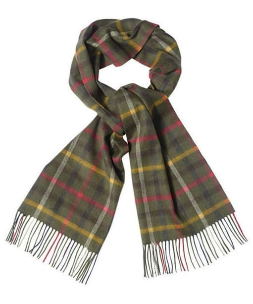 Men's Barbour Gentlemen's Bolt Tattersall Scarf - Olive