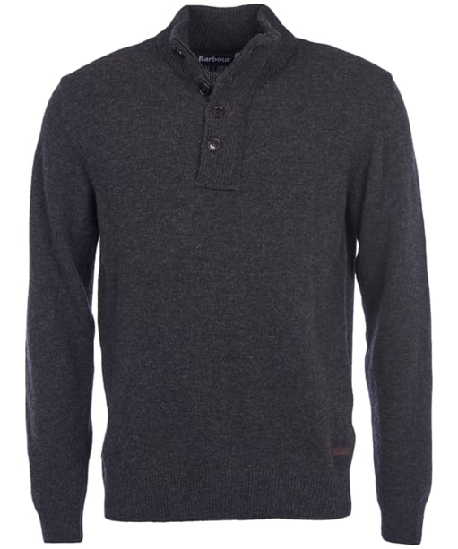 Barbour Patch Half Zip Lambswool Sweater - Charcoal