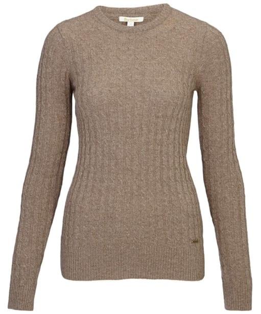 Women's Barbour Langdale Crew Neck Lambswool Sweater - Mocha