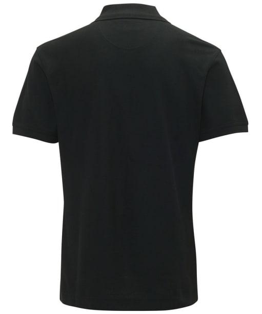 Mens Barbour Tartan Pique Polo Shirt - Black