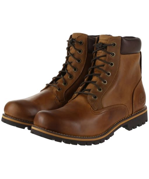 """Men's Timberland Earthkeepers Rugged 6"""" Plain Toe Boot - Copper Roughtcut"""