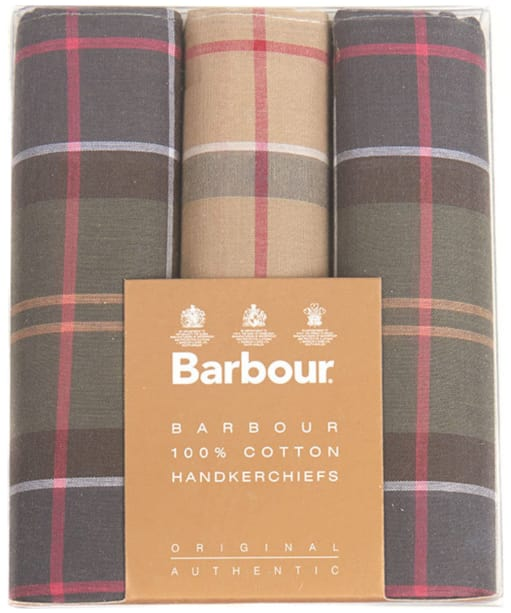 Barbour Classic Tartan Handkerchiefs - Boxed Set of Three