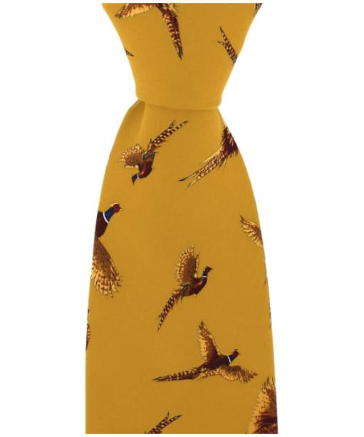 Men's Soprano Large Flying Pheasant Tie - Mustard