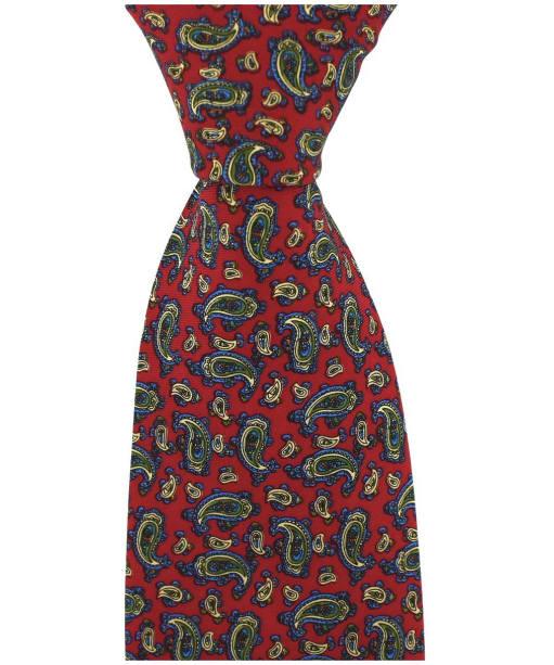 Men's Soprano Small Paisley Tie - Red