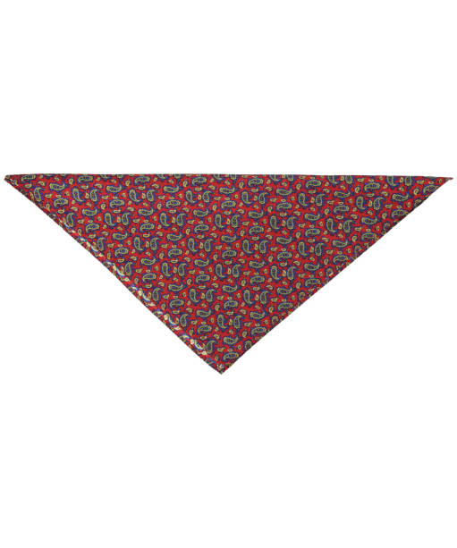 Men's Soprano Small Paisley Handkerchief - Red