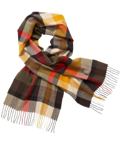 Barbour Ruthven Plaid Scarf - Olive Check