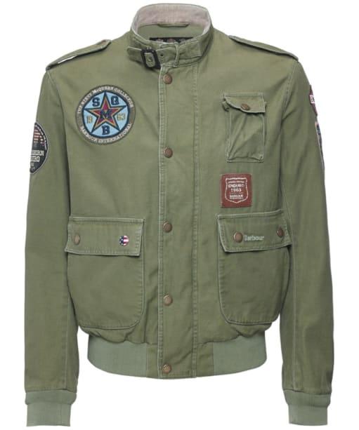 Men's Barbour International Customised Flyer Jacket - Burnt Olive
