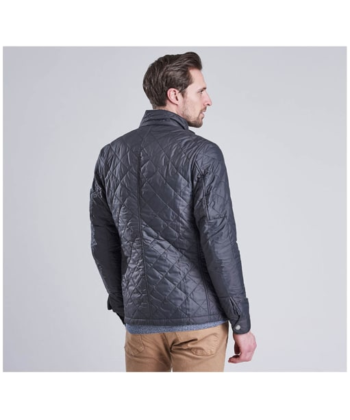 Men's Barbour International Ariel Quilted Jacket - Charcoal