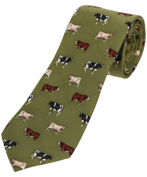 Soprano Country Cow Breeds Tie - Green