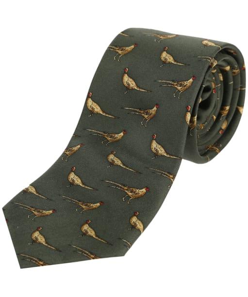 Soprano Standing Pheasants Tie - Green