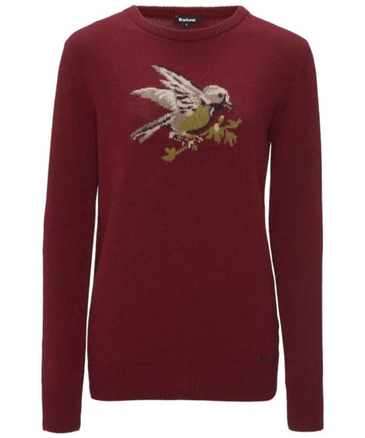 Barbour Featherwood Bird Sweater - Ruby Wine