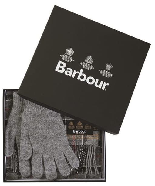 Barbour Scarf and Glove Gift Box - Modern / Grey