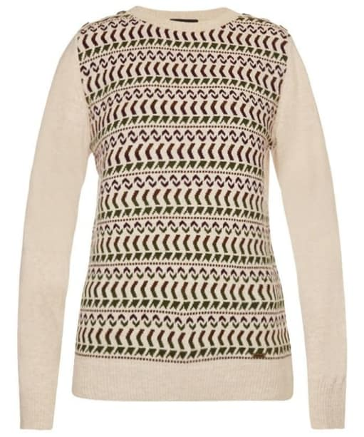 Women's Barbour X Land Rover Stydon Sweater - Pearl Mix