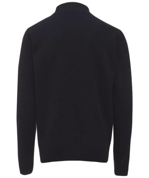 Men's Barbour Essential Lambswool Half Zip Sweater - Navy