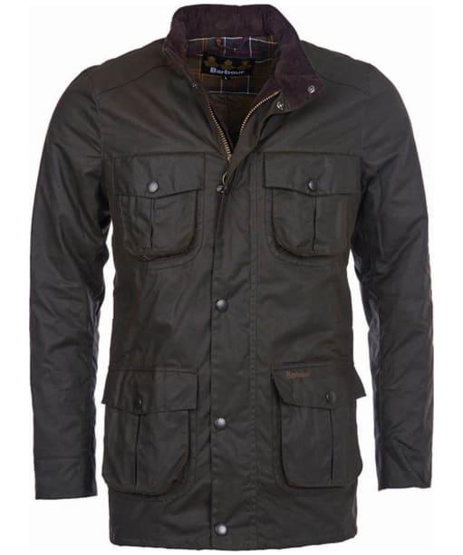 Men's Barbour Corbridge Waxed Jacket - Olive