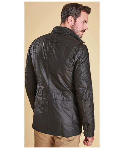 Men's Barbour Corbridge Waxed Jacket - Black