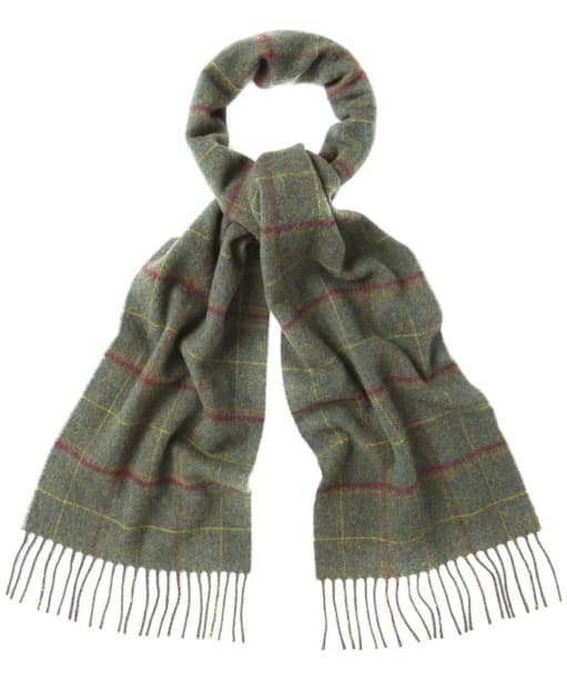 Barbour Newmarket Plaid Lambswool Scarf - Sage