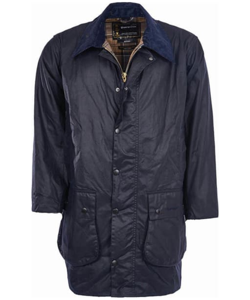 Barbour Border Wax Jacket - Navy