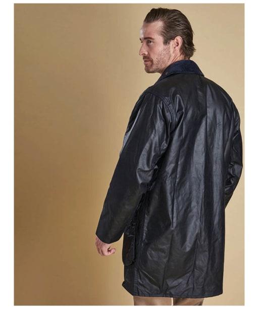 Barbour Border Wax Jacket - Navy