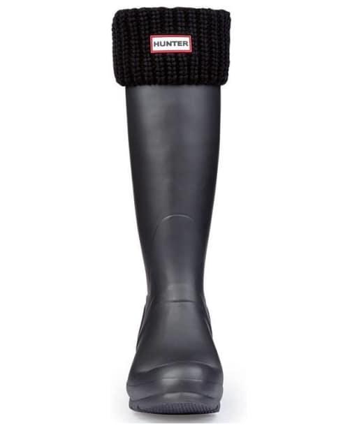 Hunter Half Cardigan Stitch Boot Socks - Black
