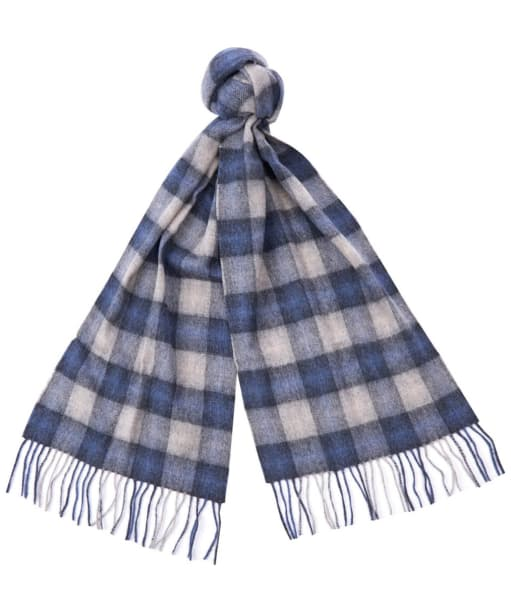 Barbour Gowan Check Scarf - Blue / Grey