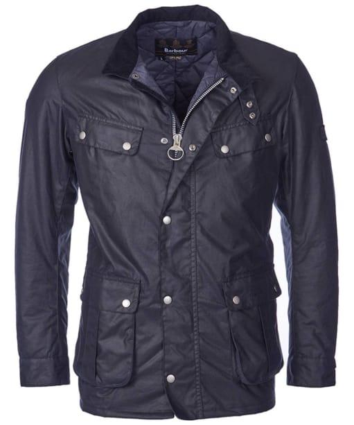 Men's Barbour International Duke Wax Jacket - Navy