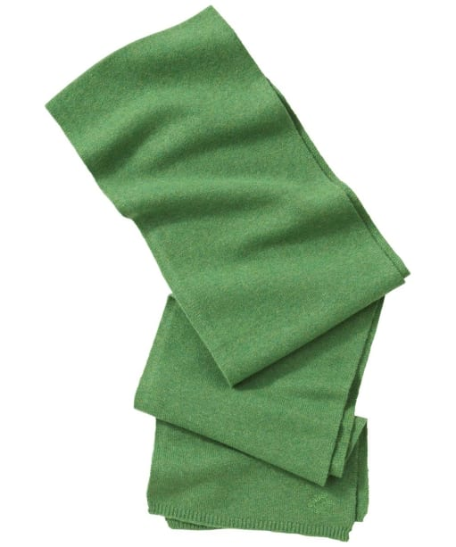 Alan Paine AP Embroidered Wool Scarf - Watercress